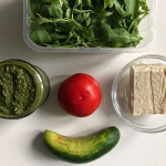 #3 green pesto and tofu salad
