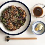 #8 okonomiyaki and wocester sauce