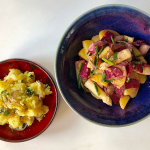 #10 German potato salad and bitter leaves salad