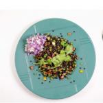 #1 black lentil salad and cocos cabbage salad