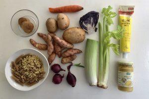 i used left over veggies from fridge